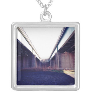 Indecision Bridge Silver Plated Necklace
