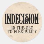 Indecision Classic Round Sticker