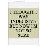 indecision doubt design greeting card