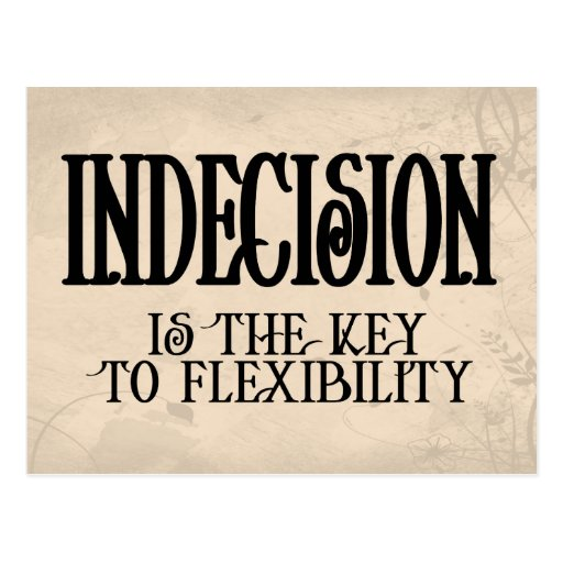 Indecision Postcard