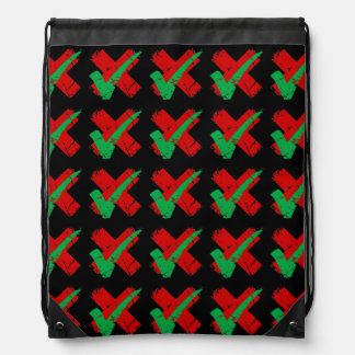 indecision Tick Cross Pattern Backpack
