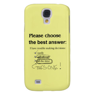 Indecisive Multiple Choice Questions Galaxy S4 Case