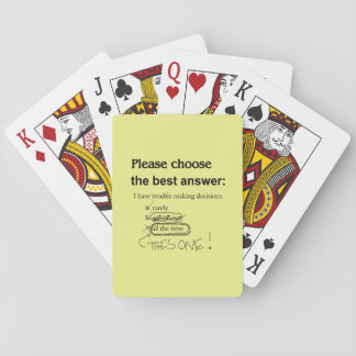 Indecisive Multiple Choice Questions Playing Cards