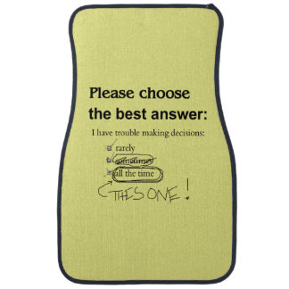 Indecisive Multiple Choice Questions Floor Mat