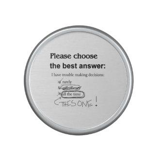 Indeciso - problema que toma decisiones altavoz bluetooth