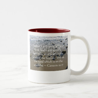Indeed I will greatly bless you, and ... Two-Tone Coffee Mug