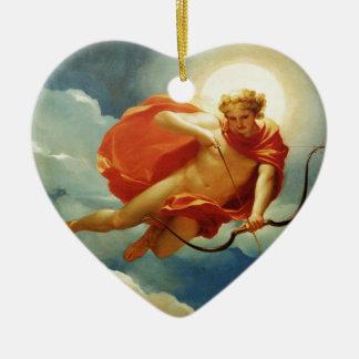 indefinido adorno navideño de cerámica en forma de corazón