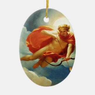 indefinido adorno navideño ovalado de cerámica