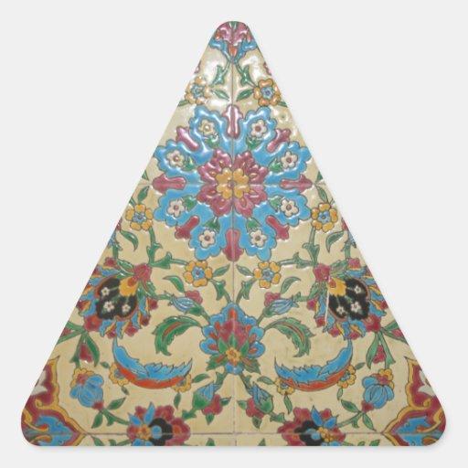 indefinido pegatina triangular