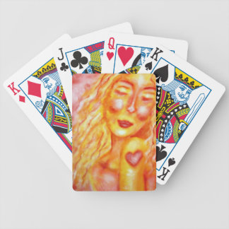 Indelible Heart Art Bicycle Playing Cards