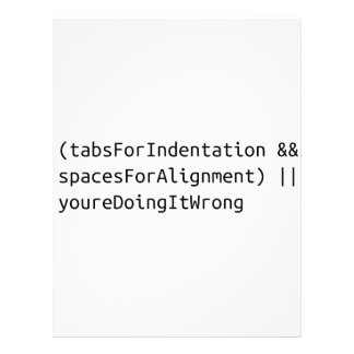 Indentation is a serious matter. letterhead