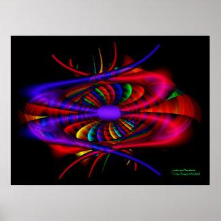 Indented Parabola Fine Fractal Art Poster