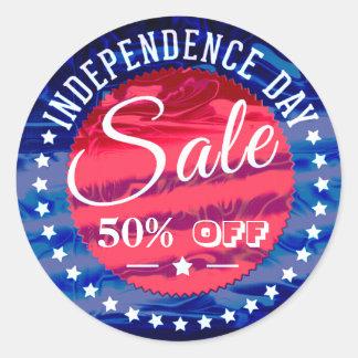 Independance Day Sale Promotion Label Sticker