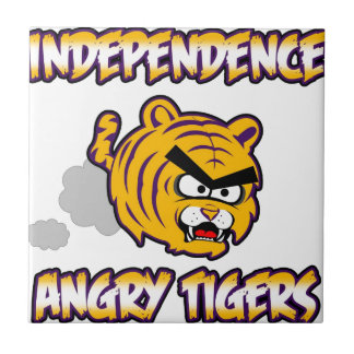 Independence Angry Tigers products Small Square Tile