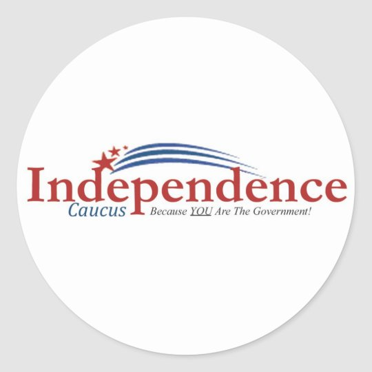 Independence Caucus Logo Stickers