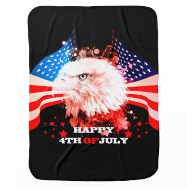 Independence Day4th of jul Baby Blanket