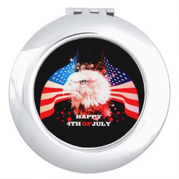 Independence Day4th of jul Compact Mirror