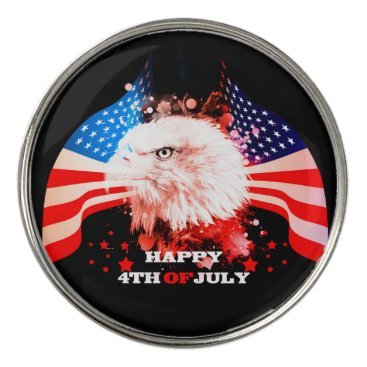 Independence Day4th of jul Golf Ball Marker
