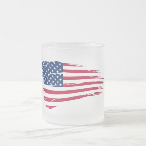 Independence Day 10 Oz Frosted Glass Coffee Mug