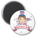 Independence Day 2 Inch Round Magnet