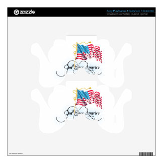 independence day 4 july skins for PS3 controllers
