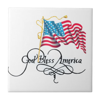 independence day 4 july small square tile