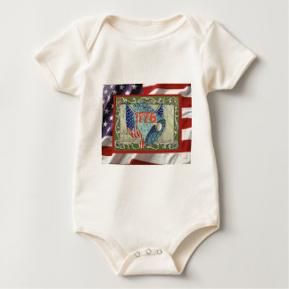 Independence Day, 4th of July Baby Bodysuit