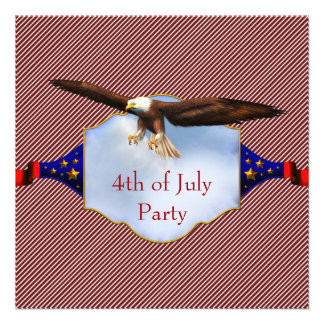 Independence Day 4th of July Party BBQ Personalized Invitation