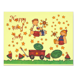 Independence Day 4th of July Picnic Party Invitati Card