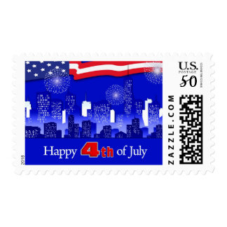 Independence Day, 4th of July Postage Stamps