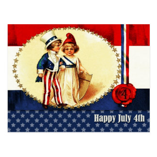 Independence Day ,4th of July Postcard
