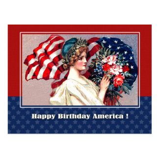 Independence Day, 4th of July Postcard