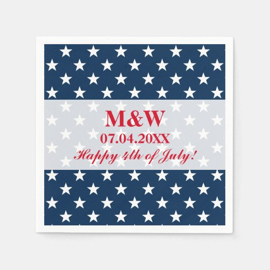 Independence Day 4th of July wedding party napkins