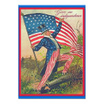 independence day 5x7 paper invitation card