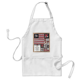INDEPENDENCE DAY ADULT APRON