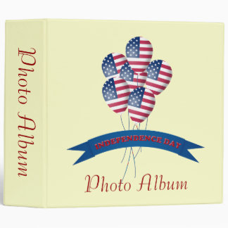 Independence Day Balloons Photo Album Template Binder
