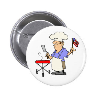 Independence Day BBQ Button