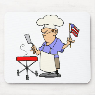 Independence Day BBQ Mouse Pad