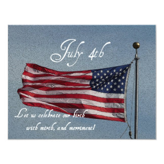 Independence Day BBQ/with Ye Olde Humor! 4.25x5.5 Paper Invitation Card