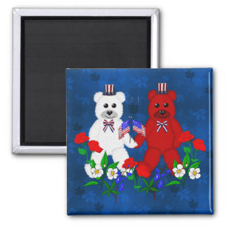 Independence Day Bears Magnet