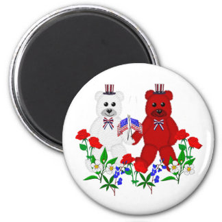 Independence Day Bears Fridge Magnet