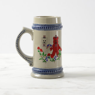 Independence Day Bears 18 Oz Beer Stein
