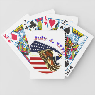 Independence Day Bicycle Playing Cards