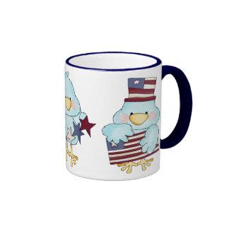 Independence Day Bird Mugs