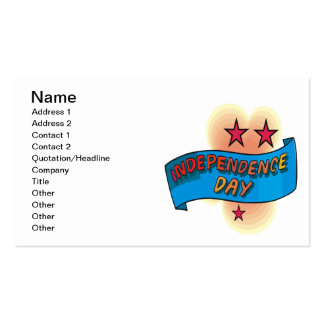 Independence Day Business Card