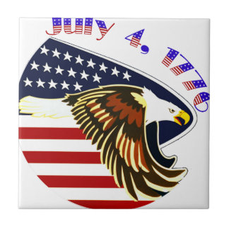 Independence Day Ceramic Tile