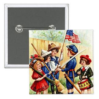 Independence Day Children Pinback Button