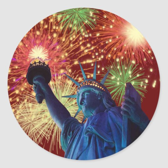 Independence Day! Classic Round Sticker