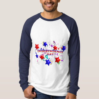 Independence Day Confetti and Stars Raglan Tee