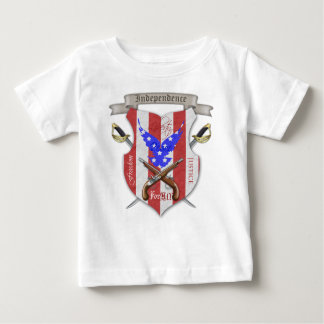 Independence Day Cross Sword Crest Baby T-Shirt